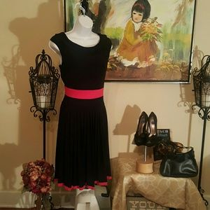Evan Picone Red and Black Dress
